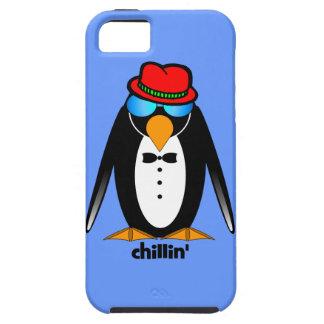 chillin del pingüino iPhone 5 funda