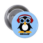 chillin del pingüino pins