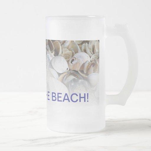 ¡chillin del stein/de la cerveza en la playa! tazas de café