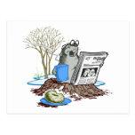 Chillin divertido hacia fuera Groundhog Postales