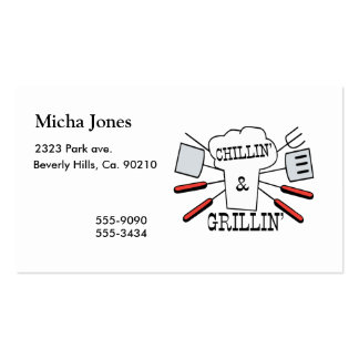 Chillin & Grillin BBQ Fun Double-Sided Standard Business Cards (Pack Of 100)
