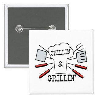 Chillin & Grillin BBQ Fun Button