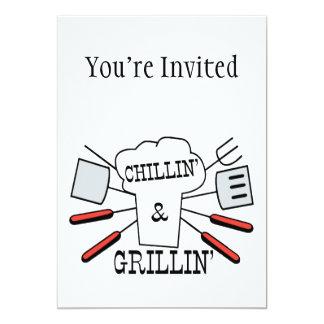 Chillin & Grillin BBQ Fun Card