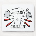 Chillin & Grillin BBQ Fun Mouse Pads