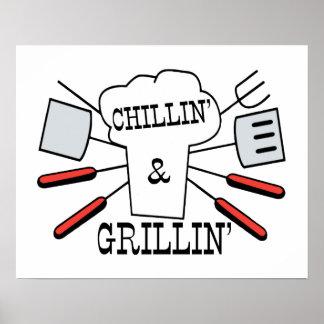 Chillin & Grillin BBQ Fun Poster