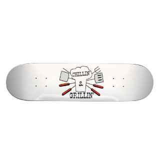 Chillin & Grillin BBQ Fun Skateboard