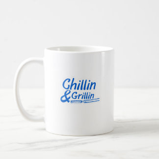 Chillin & Grillin Summer BBQ Holidays Party Family Coffee Mug