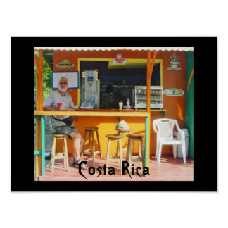 Chillin hacia fuera en Costa Rica Póster