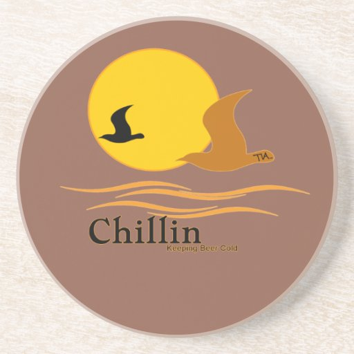 Chillin Keep Beer Cold Vacation Drink Coaster Zazzle