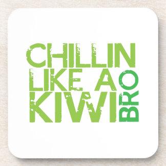 Chillin like a KIWI BRO Beverage Coaster