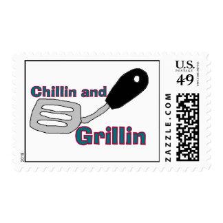 chillin n grillin Postage