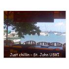 Chillin' on St. John Postcard
