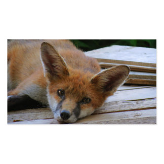 CHILLIN OUT - FOX Double-Sided STANDARD BUSINESS CARDS (Pack OF 100)