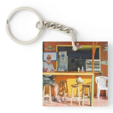 Beach Themed Chillin' Out in Costa Rica Keychain