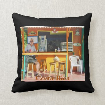 Chillin' Out in Costa Rica Throw Pillow