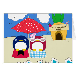Chillin' Penguins Card
