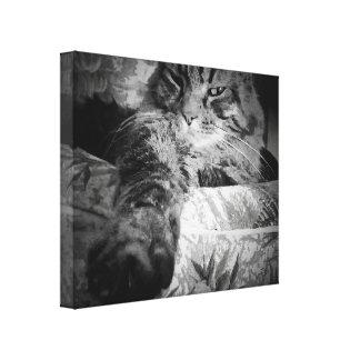 Chillin por el gato relajado del djoneill lona estirada galerías