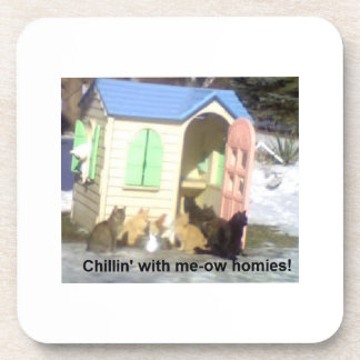 Chillin' with meow homies coaster