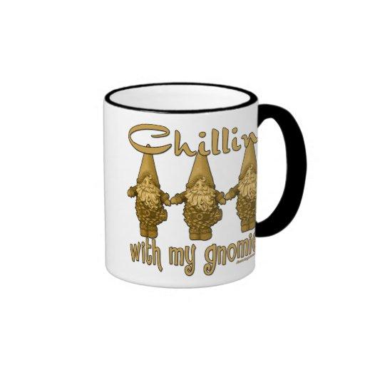 Chillin' with my Gnomies! Coffee Mugs