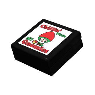 Chillin With My Gnomies Kawaii Gnome Toadstool Trinket Box