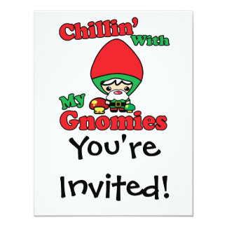 Chillin With My Gnomies Kawaii Gnome Toadstool Personalized Invites