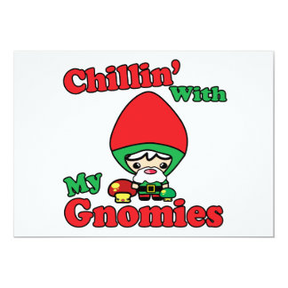 Chillin With My Gnomies Kawaii Gnome Toadstool Personalized Announcement