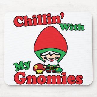 Chillin With My Gnomies Kawaii Gnome Toadstool Mouse Pad
