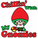 Chillin With My Gnomies Kawaii Gnome Toadstool Acrylic Cut Out