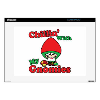 "Chillin With My Gnomies Kawaii Gnome Toadstool 15"" Laptop Decals"