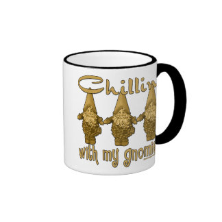 Chillin' with my Gnomies! Ringer Coffee Mug