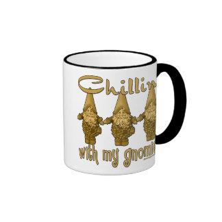 Chillin' with my Gnomies! Ringer Coffee Mug