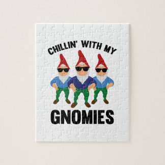 Chillin' With My Gnomies Jigsaw Puzzle