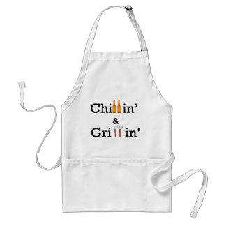 Chillin y Grillin Delantal