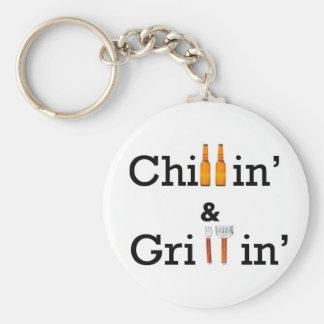 Chillin y Grillin Llavero Redondo Tipo Pin
