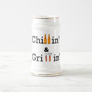 Chillin y Grillin Stein Taza De Café