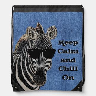 Chillin Zebra Keep Calm Backpack
