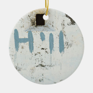 Chilling a wall Double-Sided ceramic round christmas ornament