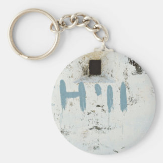 Chilling a wall basic round button keychain
