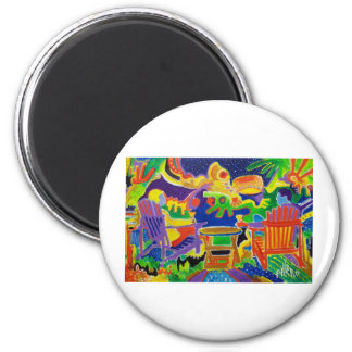 Chilling by Piliero 2 Inch Round Magnet