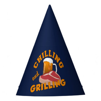 Chilling & Grilling BBQ party hat