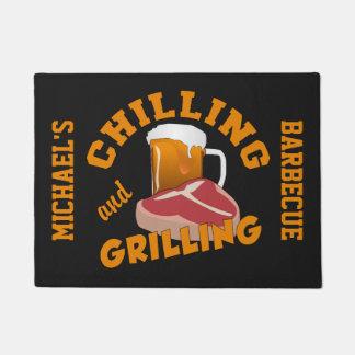 Chilling & Grilling custom door mat