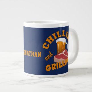 Chilling & Grilling custom name mugs