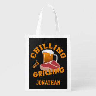 Chilling & Grilling custom name reusable bag
