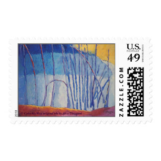 Chilling in the Emotional Warmth,  ColorMyWay ... Postage Stamp