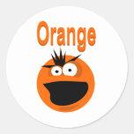 Chillón anaranjado etiquetas redondas
