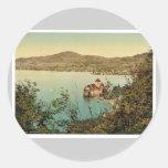 Chillon Castle, Montreux, Geneva Lake, Switzerland Round Stickers