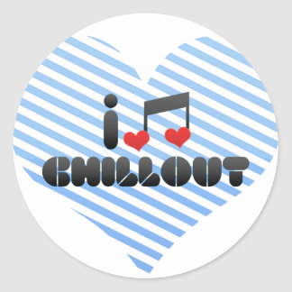 Chillout Round Stickers