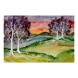 chills 2 surreal landscape watercolor poster print