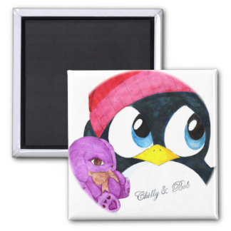 Chilly & Bob 2 Inch Square Magnet