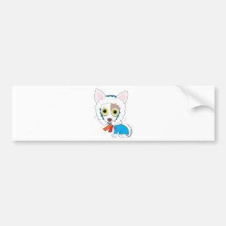 Chilly Chihuahua Car Bumper Sticker
